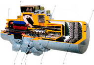 Общий вид двухвинтового компрессора