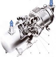 Общий вид одновинтового компрессора